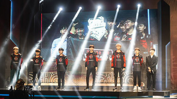 Hanoi, Vietnam - May 10: --- during the 2019 League of Legends Mid-Season Invitational Group Stage at the National Convention Center on May 10, 2019 in Hanoi, Vietnam. (Photo by David Lee/Riot Games)